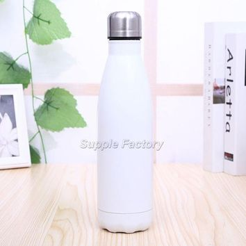 Family Friends party Board game 20pcs 11color 500ml Vacuum Cup Coke Bottle Creative Insulation Cup With Stainless Steel Coffee Water Bottle Bowling Shape AT_41_3