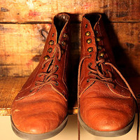 Vintage Brown Leather Ankle oots