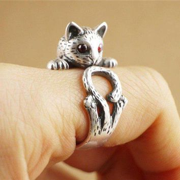 One Size Fits All Cat Ring Zinc Alloy