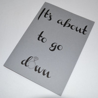 Will you be my Bridesmaid Card its about to go down Diamond Bridal Card Funny Bridesmaid Cards Bridesmaid Proposal Card Be My Maid of Honor