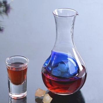 450ml Unique Crystal Glass Wine Decanter Wine Aerator Container Wine Jug Keep Fresh Wine Carafe Cocktail Champagne Cooling Tools
