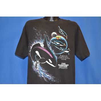 80s Maritime Center Norwalk Killer Whale t-shirt Extra Large