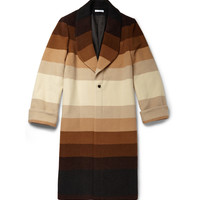 J.W.Anderson - Striped Wool Overcoat | MR PORTER