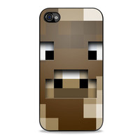 minecraft cow character Iphone 4s Cases