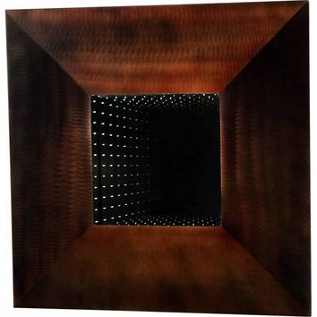 Four Square Large Wall Mirror Root Beer Frame & Infinity Mirror