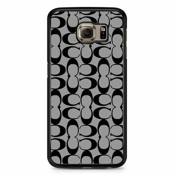 Coach Pattern Samsung Galaxy S6 Case