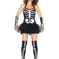 Sexy Gild Skeleton Adult Womens Costume
