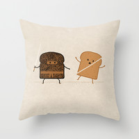 Slice! Throw Pillow by Teo Zirinis