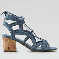 AEO Lace Up Block Heel , Blue