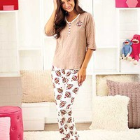 Women's Sock Monkey Loungewear