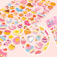 Buy Kawaii Jewelled Sponge Stickers - Cakes & Desserts at Tofu Cute