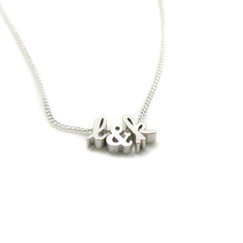 Initials Necklace, Charm Necklace, Delicate Necklace, Custom Necklace, Personalized Necklace, Tiny Necklace, Best Friend, Mothers Day Gift
