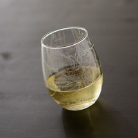 Seattle Map Stemless Wine Glass