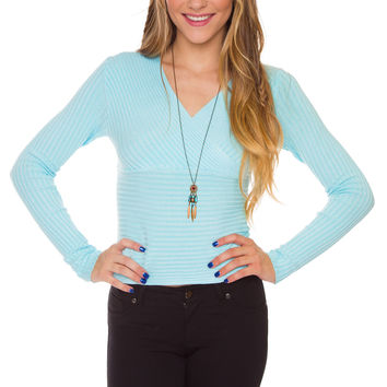 Elenora Knit Top - Blue
