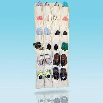 Felji Shoe Rack 24 XL Pockets Over the Door Organizer Closet System