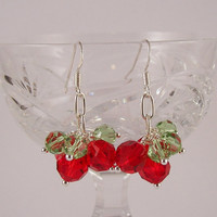 Shake It Up Pom Swarovski crystal Christmas Holiday Earrings Gift