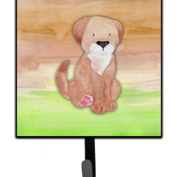 Dog Green and Brown Watercolor Leash or Key Holder BB7360SH4