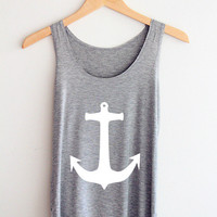 Ash Anchor Tank Top