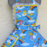The Care Bears Apron - Sexy Double Full of Flounce - Limited Edition - Ready to ship