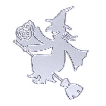 Halloween Witch Dies Metal Cutting Dies Pumpkin Stencil for DIY Scrapbooking Die Cuts Embossing Folder Craft