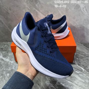 HCXX N1399 Nike Air Zoom Vomero W6 Sports Running Shoes Blue Sliver