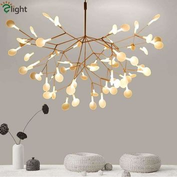 Modern Firefly Led Chandelier Branch Luminaria Chandelier Lighting Lustre Acrylic Lamparas Lighting Foyer Lampadas Fixtures