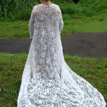 Vintage Great wedding dress lace by PuertoRicosBazaar on Etsy