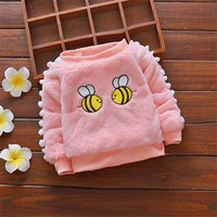 BibiCola 2018 Baby boys sweater autumn cartoon bee clothing for bebe girls infant toddler winter thicken plus velvet clothes
