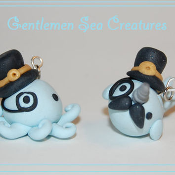 Gentleman Sea Creature Set Octopus and Narwhal by Railey98 on Etsy