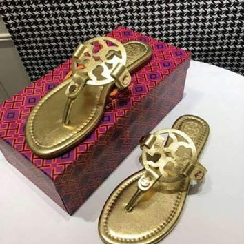 Tory burch Popular Summer Women Flats Men Slipper GZ Sandals Shoes