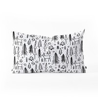 Heather Dutton Winter Wonderland White Oblong Throw Pillow