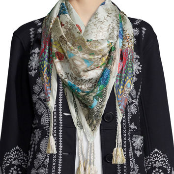 Jace Printed Silk Scarf, Size: ONE SIZE, MULTI COLORS - Johnny Was Collection
