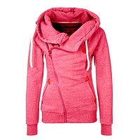Zipper Design Hoodies - Sweaters