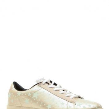 Gold Glow in the Dark Lace Up Sneakers @ Cicihot Women Sneakers-Fashion Sneakers,Casual Sneakers,Wedge Sneakers,Platform Sneakers,Hidden Wedge Sneakers,High Top Sneakers,Lace Up Sneakers,Studded Sneakers,Buckle Sneakers