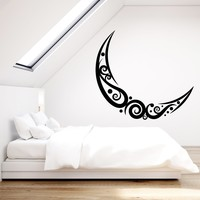 Vinyl Wall Decal Abstract Moon Ornament Room Decoration Stickers (2254ig)