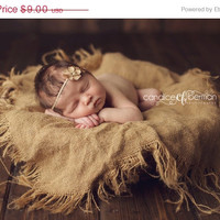 Sale Burlap Blanket Newborn Photo Prop Mini Baby layering Blanket Photography Prop Layer choose your colors