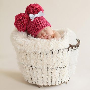 Newborn Crochet Knitted Warm Hat Infants Lovely Cap Beanie Baby Photography Prop