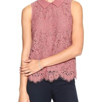 Sleeveless Lace Blouse | Banana Republic Factory