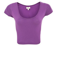 Purple Crop T-Shirt