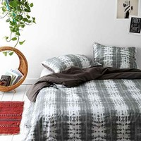 Magical Thinking Dye-Stripe Duvet Cover- Grey