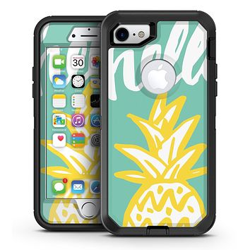 Well Hello Pineapple - iPhone 7 or 7 Plus OtterBox Defender Case Skin Decal Kit