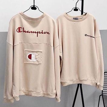 Champion Woman Men Fashion Top Sweater Pullover