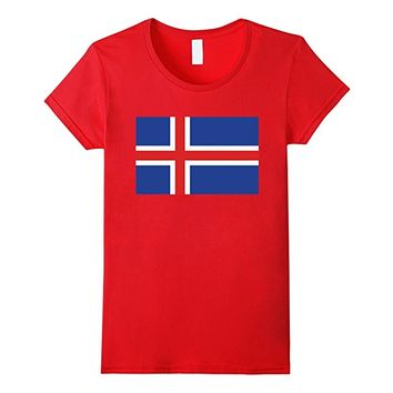 Flag of Iceland Flag T-Shirt