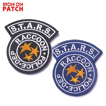 S.T.A.R.S. Resident Evil Raccoon City Embroidered Patch Hook & Loop Badges For Cloth Clothing Backpack Tactical Military Patches