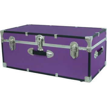 College Dorm Dormitory Wheeled Storage Trunk Luggage Footlocker