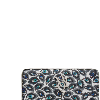 Alexander McQueen - Printed Leather Continental Zip-Around Wallet