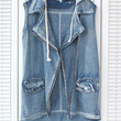 Blue Chic Style Hooded Waistcoat