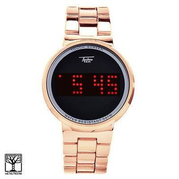Jewelry Kay style Touch Screen Digital Rose Gold Tone Watch Techno Pave LED Metal Band WM 8164 RG