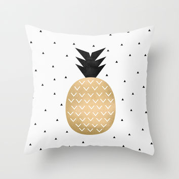 Pineapple Throw Pillow by Elisabeth Fredriksson
