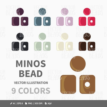 Czech Minos Beads Vector Illustration - ai, eps, png, pdf